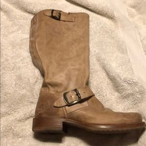 Frye Boots warn a handful of times